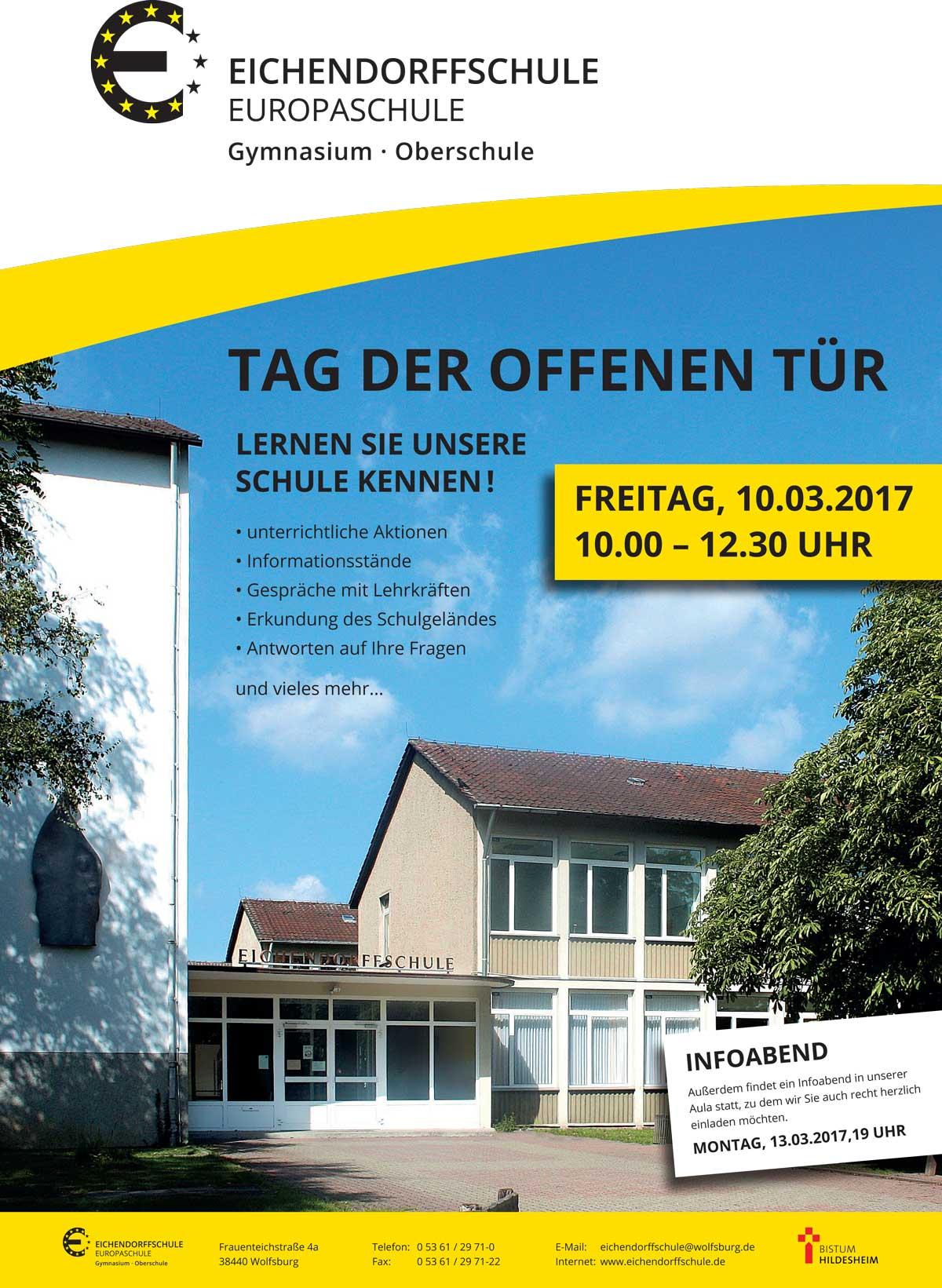 eichendorffschule wolfsburg - tag der offenen tür 2017, Einladung